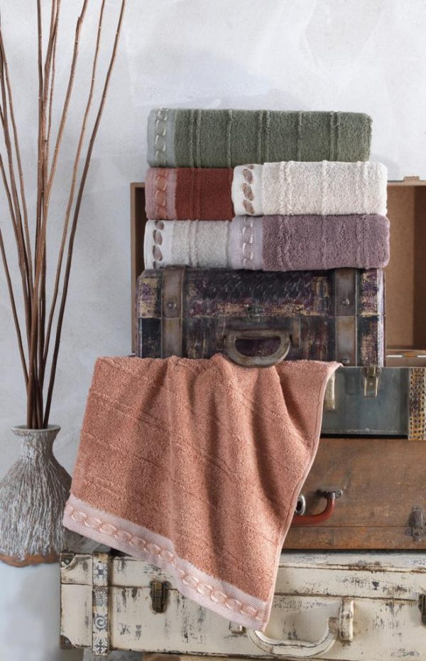 купить Набор махровых полотенец Sikel жаккард Saika 50x90 6 шт