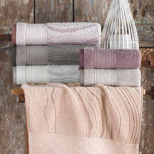 купить Набор махровых полотенец Sikel жаккард Laminant 50x90 6 шт