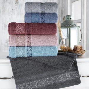 купить Набор махровых полотенец Sikel жаккард Roma 70x140 6 шт