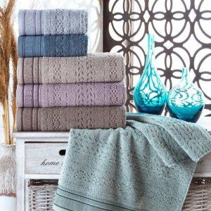 купить Набор махровых полотенец Sikel жаккард Melina 70x140 6 шт
