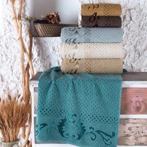 купить Набор махровых полотенец Sikel жаккард Eysan 70x140 6 шт