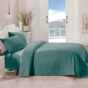 купить Покрывало-простынь махровая TAC Lyon 200x220 зеленый