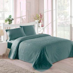 купить Покрывало-простынь махровая TAC Dama royal 200x220 зеленый