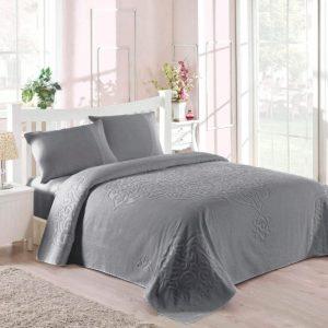 купить Покрывало-простынь махровая TAC Dama 200x220 серый