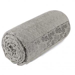 купить Махровая простынь-покрывало Пике Sikel cotton Botanik 200x220 темный бежевый