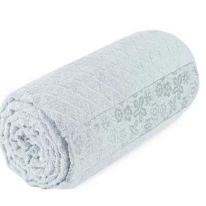 купить Махровая простынь-покрывало Пике Sikel cotton Botanik 200x220 мятный