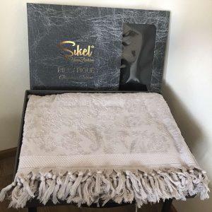 купить Махровая простынь-покрывало Пике Sikel жаккард Lilyum Penye 200x220 серый