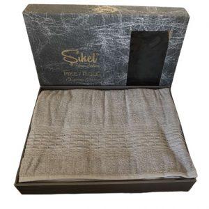 купить Махровая простынь-покрывало Пике Sikel cotton Imperial 200x220 темно серый