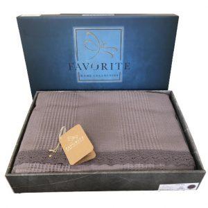 купить Вафельное покрывало-простынь Пике Favorite Gold 200x240 темно серый