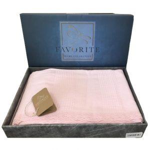 купить Вафельное покрывало-простынь Пике Favorite Gold 200x240 розовый