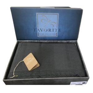 купить Вафельное покрывало-простынь Пике Favorite Gold 200x240 антрацит