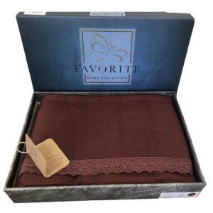 купить Вафельное покрывало-простынь Пике Favorite Gold 200x240 бордо