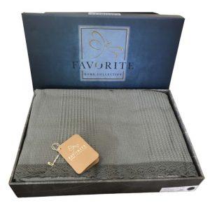 купить Вафельное покрывало-простынь Пике Favorite Gold 200x240 зеленый
