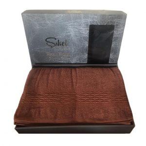 купить Махровая простынь-покрывало Пике Sikel cotton Imperial 200x220 кирпичный