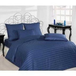 купить Постельное белье Ozdilek страйп-сатин Line синий Синий фото