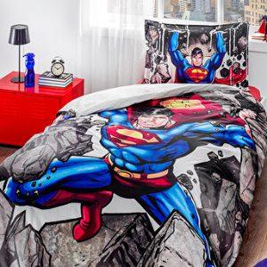 купить Детское постельное белье Super Man ранфорс Ozdilek Серый фото