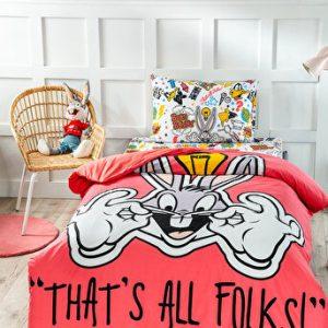 купить Детское постельное белье Ozdilek ранфорс Bugs Bunny Красный фото