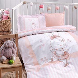 купить Детское постельное белье Ozdilek ранфорс Dancer Bunny Розовый фото