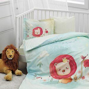 купить Детское постельное белье Ozdilek ранфорс Baby King Голубой фото