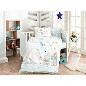 купить Детское постельное белье Ozdilek ранфорс Stella голубой Голубой фото