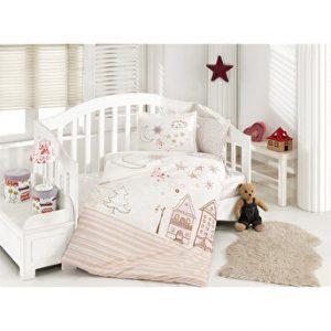 купить Детское постельное белье Ozdilek ранфорс Stella розовый Розовый фото