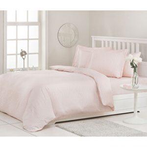 купить Постельное белье Ozdilek страйп-сатин Line pudra Розовый фото