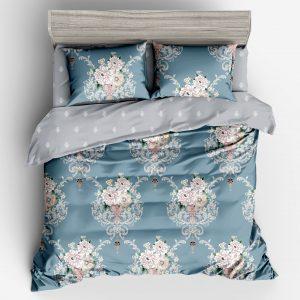 купить Постельное белье Bella Villa Сатин B-0307 Голубой фото