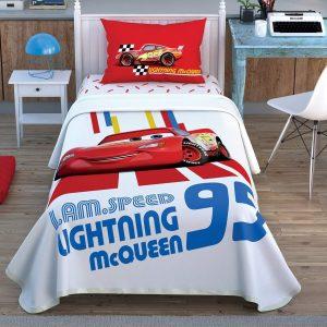 купить Детское постельное белье с покрывалом-пике TAC Cars Racing Hero Красный фото