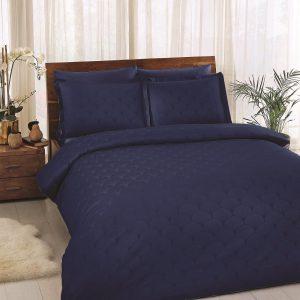 купить Постельное белье TAC Cross Blue Жаккард Синий фото