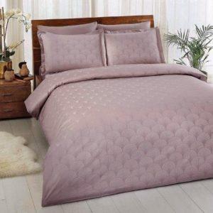 купить Постельное белье TAC Cross Lilac Жаккард Розовый фото