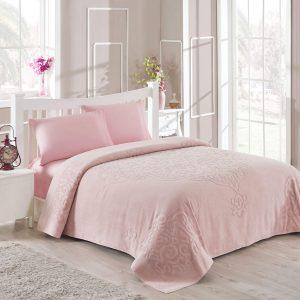 купить Махровое покрывало-простынь TAC Dama Pink 200×220
