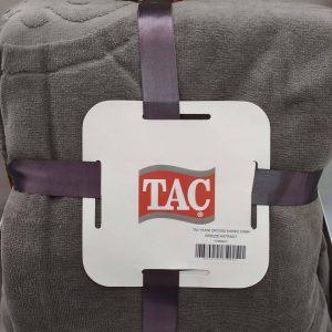 купить Махровое покрывало-простынь TAC Dama Antracit 200×220