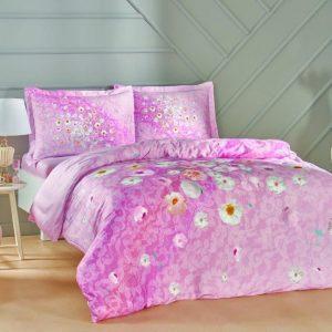 купить Постельное белье TAC Serlina Pink Сатин Розовый фото