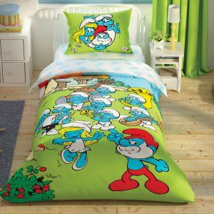 купить Детское постельное белье TAC Sirinler Musical Ранфорс Зеленый фото