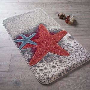 купить Коврик для ванной Confetti Starfish Red