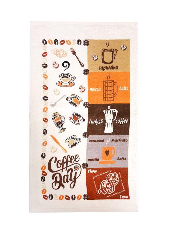 купить Кухонное полотенце махр 30*50 coffee day