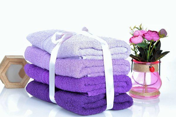 купить Набор полотенец в ванную RAINBOW Lila 4шт