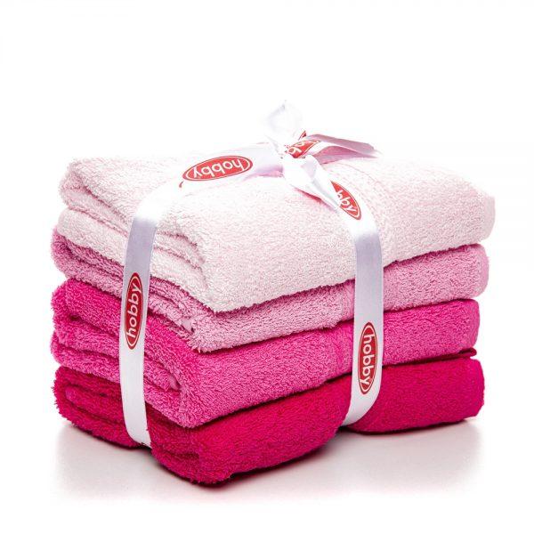 купить Набор полотенец в ванную RAINBOW Pembe 4шт