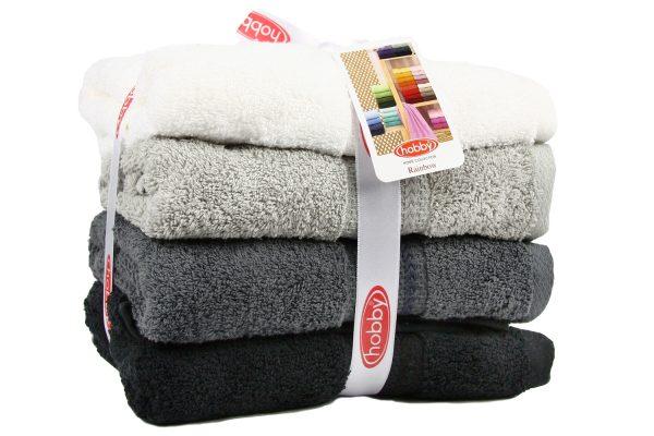 купить Набор полотенец в ванную RAINBOW Siyah 4шт