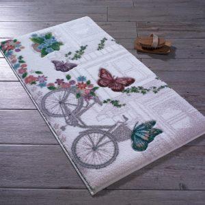 купить Коврик для ванной Confetti Flower Basket Beyaz