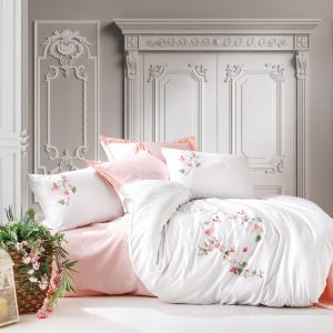 купить Постельное белье с вышивкой 3D Cotton box LUNA Розовый фото