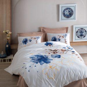 купить Постельное белье Cotton Box Carmine Bej Синий фото