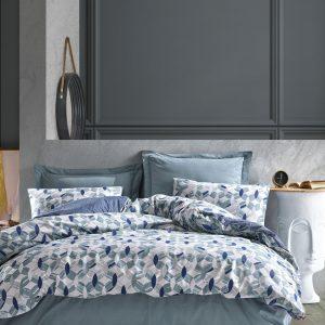 купить Постельное белье Cotton Box Minimal Tory Mavi Голубой фото