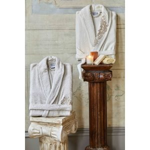 купить Набор халат с полотенцем Karaca Home Eldora Offwhite-Bej 2020-2