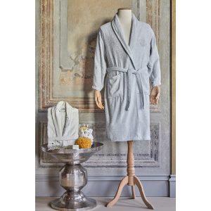 купить Набор халат с полотенцем Karaca Home Eldora Offwhite-Gri 2020-2