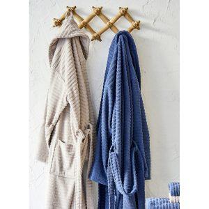 купить Набор халат с полотенцем Karaca Home Infinity vizon-lacivert 2020-1