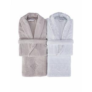 купить Набор халат с полотенцем Karaca Home Novela 2018-2 tiffany