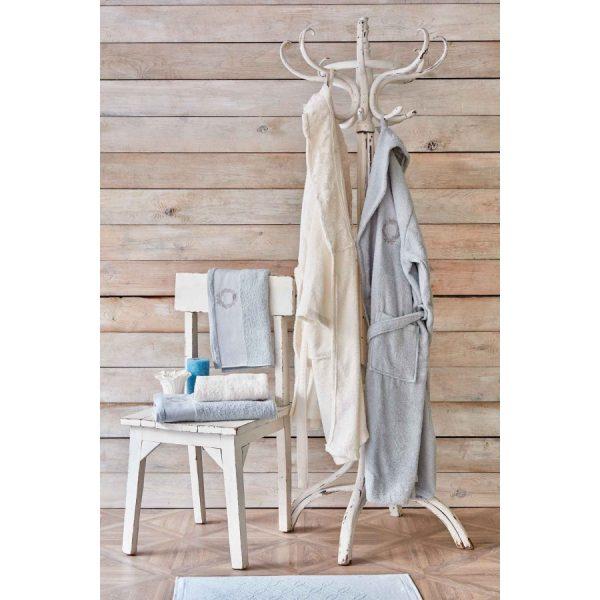 купить Набор халат с полотенцем Karaca Home Silvio offwhite-s.yesil