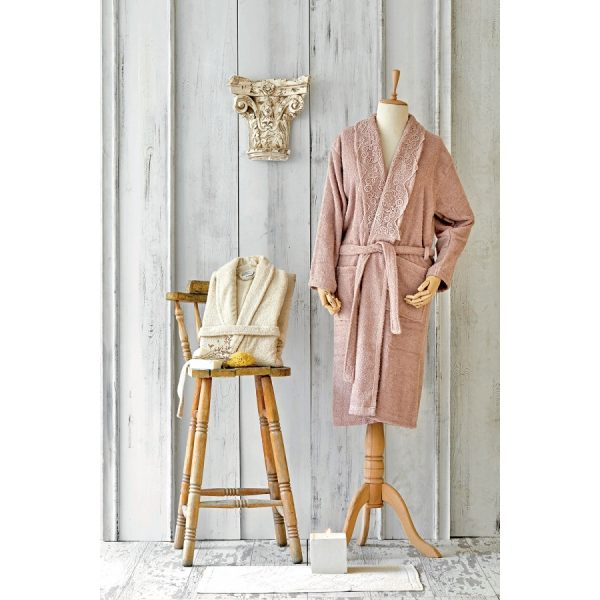 купить Набор халат с полотенцем Karaca Home Valeria Rose-Gold 2020-2