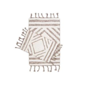 купить Набор ковриков Irya Hoover kahverengi-ekru 60*90|40*60